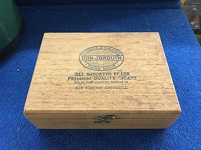 Vintage Wooden Cigar Box - Don Joaquin