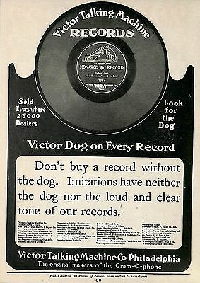 1904 Victor Talking Machine Monarch Records Ad Advertisement