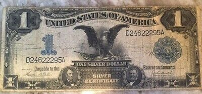 1899 $1 Silver Certificate Large Note! Grade With Photo's! Black Eagle!