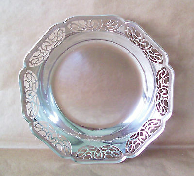 Older Vintage Wmf German 835 Silver Alloy Reticulated Pierced Bowl Not Sterling