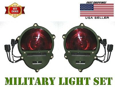 Vintage Military tail lights NOS. Military aircraft aluminum tail light, 5A910