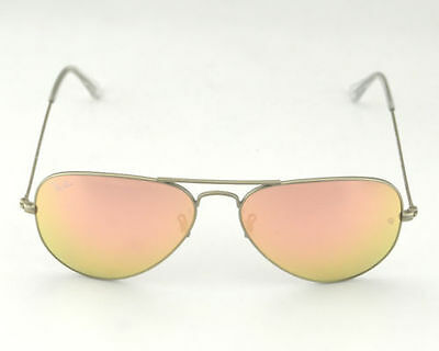 Rb3025 019/z2 58Mm  Copper Pink Flash Aviator Sunglasses Silver