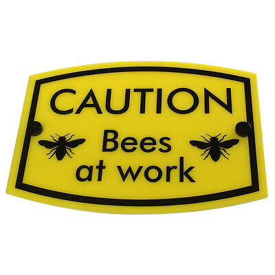 BEE KEEPING Warning Sign 'Bees at work' | weather & water proof | FREE SHIPPING