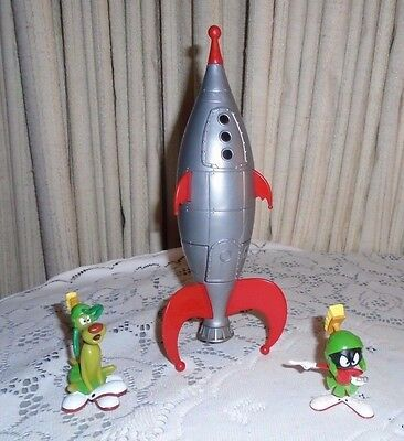Lot 3  Looney Tunes Marvin the Martian's Maggot Space Rocket Toys Space Jam 1996