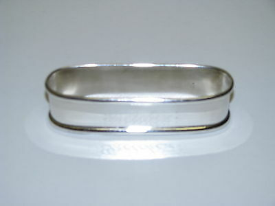 "OVAL ROLLED RIM NAPKIN RING 470 BY LUNT STERLING SILVER ""GRETCHEN"" euc"