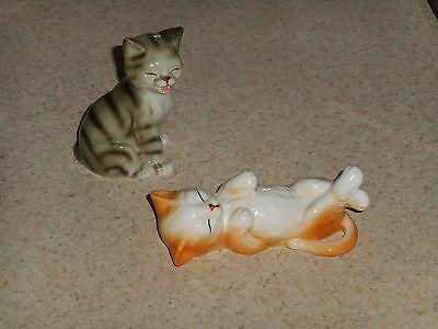 Lot 2 Danbury Mint Cats of Character Bone China Cat Figurines Collection Kitten