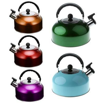 Durable Stainless Steel Whistling Tea Coffee Kettle Outdoor Camping Pot 3 Liter