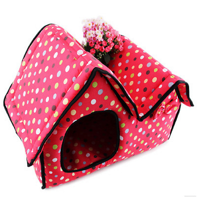 Pet House Dog Cat Bed Kennel WashableFleece Pet Cushion Puppy Pad Mat Comfy Cute