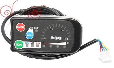 Risunmotor 24V 3-speed PAS LED Control Panel/Display Meter-890 for Ebike