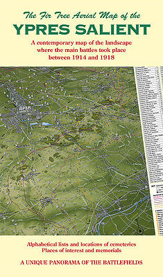 YPRES SALIENT - First World War Map of YPRES 1914-1918. Folded Map.