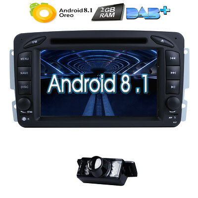 4-Core Android 7.1 Car Stereo DVD Radio GPS for Mercedes Benz C Class W203 /W209