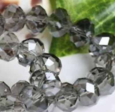 Wholesale DIY Jewelry Faceted 1000pcs 3*4mm Gray Rondelle glass Crystal Beads