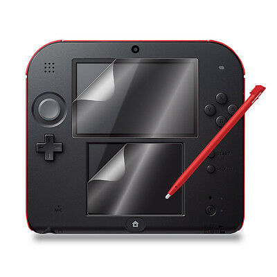 6pcs Clear LCD Screen Protector Guard Shield Film with Cloth For Nintendo 2DS
