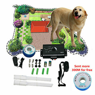 Hidden Dog Pet Shock Containment System Electric Boundary Control Fence Fencing