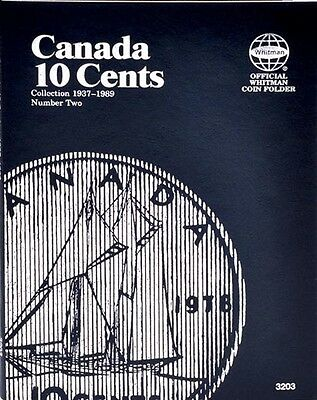 Whitman 3203 Canada 10 Cents 1937-1989 Number 2 Canadian Coin Folder Album book