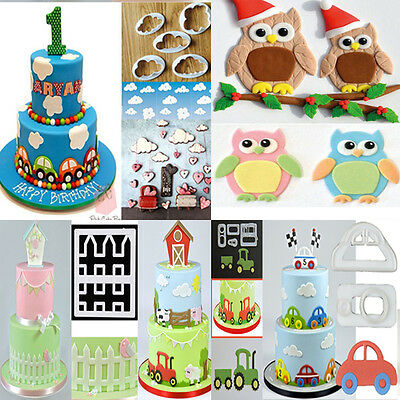 Diy Cookies Cutter Fondant Cake Decorating Sugarcraft Icing Biscuit Mould Tools