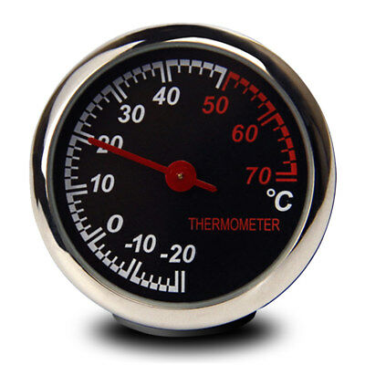 Steel Car Temperature Thermometer Meter Dashboard Table Ornament Decoration Hot