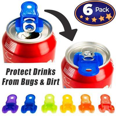 Beverage Barricade Soda Protector 6 Pack for Active Families Easily ID Drinks