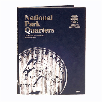 Whitman 2877 National Park Quarters Number #2 Coin Folder 2016 - 2021 Album book
