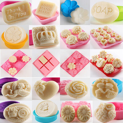 Diy Silicone Soap Mould Cake Cookies Candle Mold Ice Cube Craft Baking Tool Tray