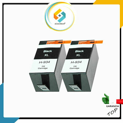 2 CARTUCCE COMPATIBILI PER HP 934 XL OfficeJet Pro 6230 6800 6820 6830