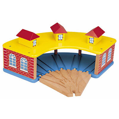 Round House with 5 Way Wooden Train Set Track 50945 - Brio Bigjigs Compatible