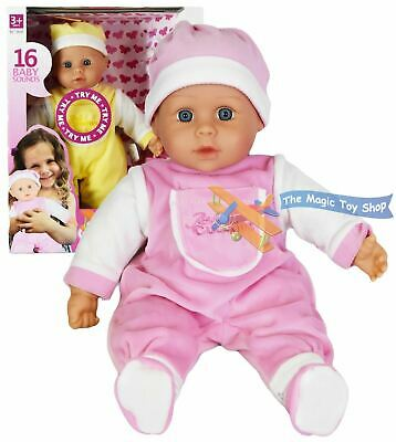 16 Sounds Crying Laughing New Born Soft Bodied Baby Doll Toy