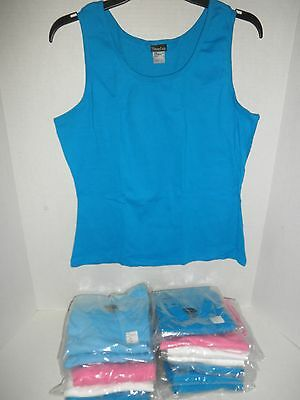 """NWT Wholesale Lot 14 Hanes """"Silver For Her"""" Wide-Strap Tank Top for Women"""