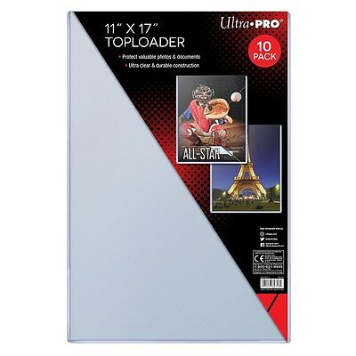 """Ultra Pro TopLoader, 11"""" x 17"""" Inch, For Photo Posters and Collectibles, 10 Pack"""