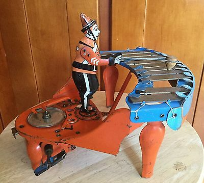 Rare 1929 Wolverine Zilotone Wind Up Tin Musical Automaton Toy, Restoration