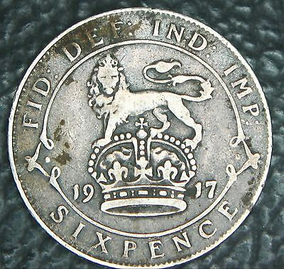 WEDDING LUCKY 100th CELEBRATION SILVER SIXPENCE 1917 PERFECT BRIDES GIFT