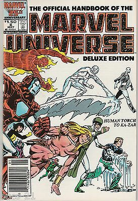 The Official Handbook of the Marvel Universe #6 May 1986 Marvel Comic Book FN