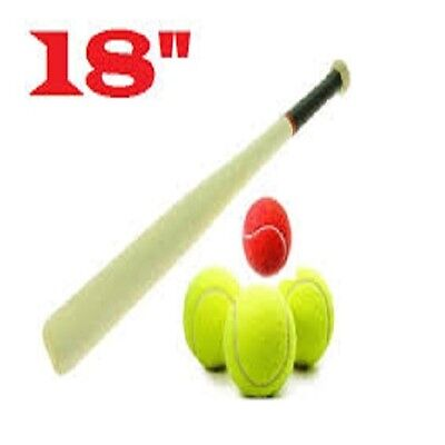 18 Inch Baseball Bat Heavy Duty Wooden Baseball Solid Construction Rounders Bat