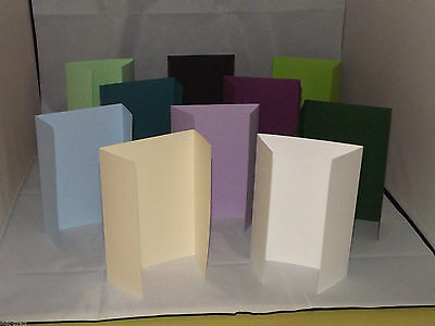 A5/C5 Gatefold Card Blanks With White Envelopes 240Gsm Free 1St Class Postage