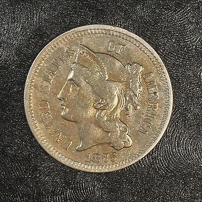 1875 Three Cent Nickel - High Quality Scans #D530