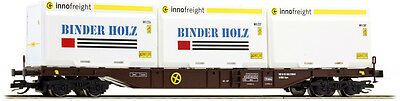 Busch 31140 TT Innofreight with Binder Holz Containers