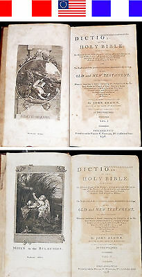 1798 Antique Ultra-Rare 1ST AMERICAN ED DICTIONARY OF THE HOLY BIBLE John Brown