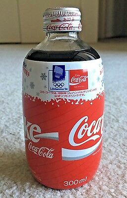 RARE! Japan 1994 Norway Lillehammer Winter Olympic Games Coca Cola Coke Bottle