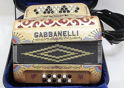 Gabbanelli Accordion EAD 5 Switch, 34 Buttons w/ Case - Free Shipping