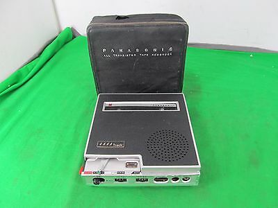 Vintage Panasonic All Transistor Tape Recorder RQ-116 w. Case - AS-IS FOR PARTS