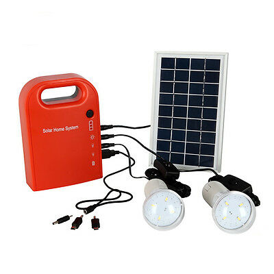 Portable Small Panels DC Solar Power Charging Generator System Outdoor Camping