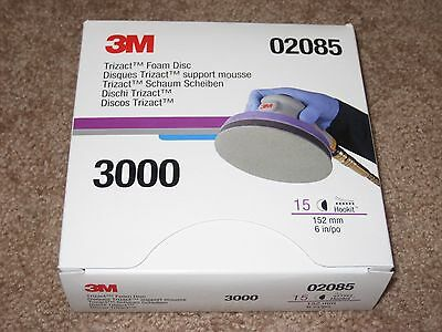 "3M 02085 Trizact Hookit Foam Disc 6"" 3000 Grit (FULL BOX of 15)"