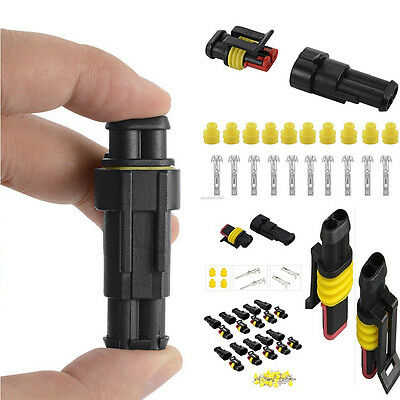 10 Kits 2 Pin way Waterproof Car ATV Electrical Wire Connector Plug cable 12v