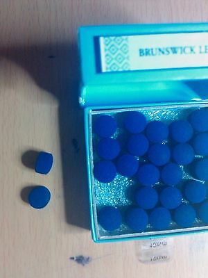 Two (2) Thick & Infused 12 Mm Blue Diamond (Usa) Pool Billiard Snooker Cue Tips