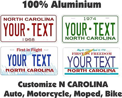 North Carolina Custom Personalized Car Motorcycle Bike Bicycle License plate Tag