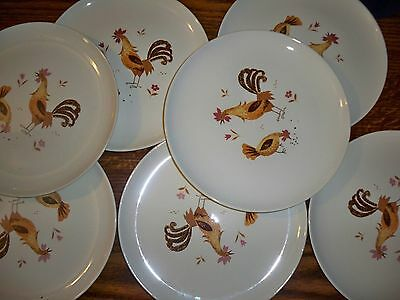 Taylor Smith Taylor Break-O-Day Rooster & Hen Dinner Plates Ever Yours 7