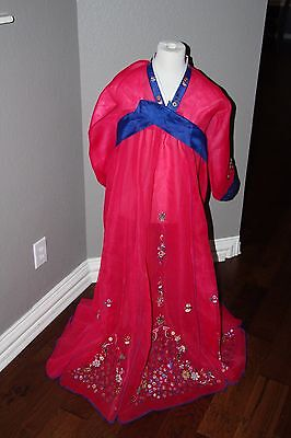 Beautiful Embr. Pink Hanbok Dress - Traditional Korean Ceremony Costume DANGUI