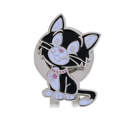 Funny Cute Cat Alloy Golf Hat Clip with Magnetic & Detachable Ball Marker