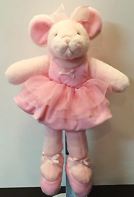 MADELINA Pink Mouse Ballerina Organza TuTu Russ Berrie 14""