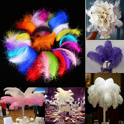 100Pcs Real Swan Feathers Plumes For Craft Wedding Xmas Party Diy Decorations